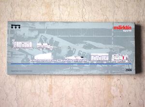 Vintage MARKLIN 2666 HO H0 DIGITAL DRG FLUGZEUG-TRANSPORT-ZUG JUNKERS F13