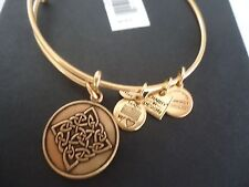 Alex and Ani  CELTIC KNOT Russian Gold Charm Bangle New W/ Tag Card & Box