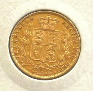 1879 Victoria Shield Full Sovereign  syd mint  mint state