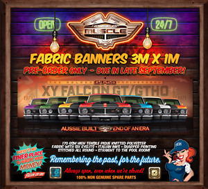 IN STOCK! LIMITED NUMBERS -  XY FALCON GT GTHO 50 YEARS 3mx1m  FABRIC BANNER
