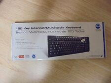 Micro-Innovation 125-Key One Touch Internet/Multimedia Keyboard   Wired