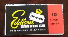 8 Eddison DE Double Edge Safety Razor Blades Made In Israel