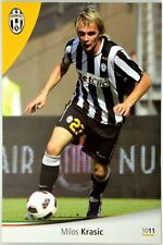 Cartoncino Juventus Stagione 2010/11 - Milos Krasic