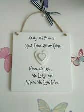 Handmade Hand Painted Square Decorative Plaques & Signs
