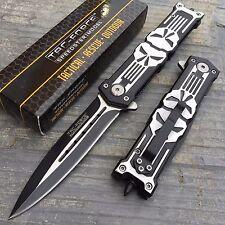 TAC-FORCE Skull Design Tactical Hunting Outdoor Rescue Pocket Knife TF-592BK