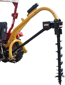 """Model 1000 3 Point Post Hole Digger W/12"""" Heavy Duty Auger"""
