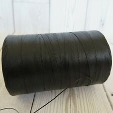 Tiger Thread 25 Waxed Flat Braided Leather Sewing Thread Ritza 0.6 Black JK 23