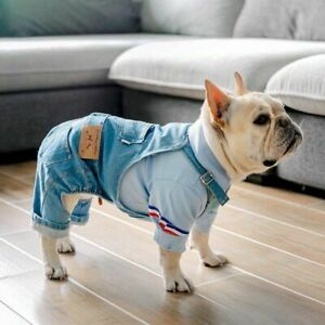 French Bulldog Clothes for Dog Denim Dog Clothes Jumpsuit Pet Clothing for Dogs