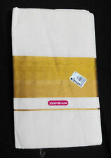 Unbleached 100% cotton  traditional Kerala handloom sari