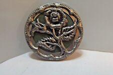 Beautifully Detailed Vintage  Mech. Metal Rose Button (793)