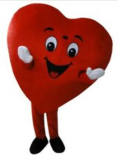 New big Sweet Love Heart Mascot Costume Party Function promotion
