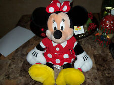 """Disney 18"""" Plush Minnie Mouse Collectible In Red Dress"""