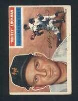 1956 Topps #205 Whitey Lockman VG/VGEX NY Giants 94852