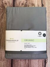 Threshold Organic Solid Gray Sheet Set Full Cloak Gray 300 Thread Count