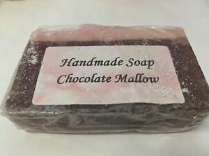 Soap Slice, Handcrafted, Chocolate Mallow Soap.