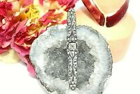 ANTIQUE EDWARDIAN SILVER 800 PASTE GLASS PIN BROOCH BU28