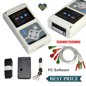 TLC9803 CONTEC 3 Channel Dynamic ECG System 24hours Holter ECG machine,software