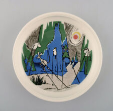 """Arabia, Finland. """"Comet in moominland"""" Porcelain plate with motif from """"Moomin""""."""