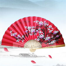 Extra Large Red Chinese Bamboo Folding Blossom Fan for Home Decor/ Wall Display