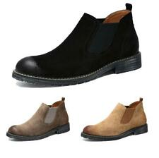 Men's Suede Chelsea Boots Chukka Casual Booties Ankle Smart Dress Formal Shoes