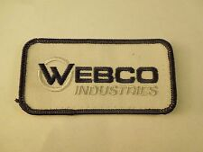 Vintage Webco Industries Tube Mfg Advertising Uniform Embroidered Iron On Patch