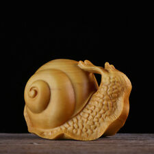 JP120ca - 6x4x3.5 CM Carved Boxwood Carving Figurine - Snail