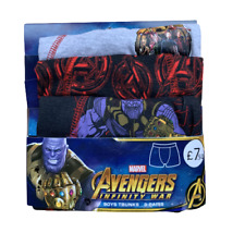 3 x Pairs Boys Marvel Avengers Boxers Shorts Pant Trunks Age 1 - 14 Years