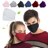Men Women Cotton Cloth Muffle Face Cover Reusable Washable with 2pcs Filters
