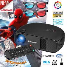 HD 1080P 3300Lumen LED Beamer Projektor Projector HDMI/USB/VGA/TV+2x3D Brille EU