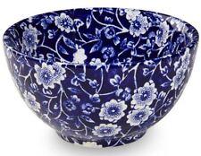 Burleigh Blue Calico Sugar Bowl 10cm