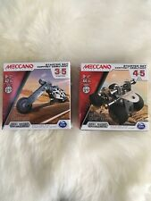 Meccano 2 Pack Starter Set Chopper And ATV Quad NEW