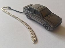 Ford Escort MK3 ref319 FULL CAR on a Pattern bookmark with cord