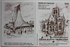 CARNET DE 8 TIMBRES - EMISSION AU PROFIT DE LA CROIX-ROUGE FRANCAISE - 1979