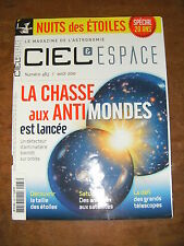 Ciel et espace N°483 Antimonde Planck Taille stellaire Satellite Saturne