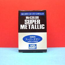 Mr. Hobby #SM05 Mr. Color Super Metallic Paint - Super Titanium