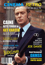CINEMA RETRO #11 GET CARTER; JAMES BOND RARE PHOTOS; SCHOOLGIRL SEX, JOE DANTE