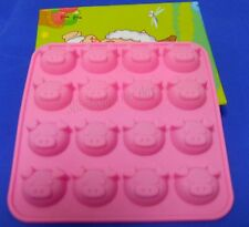 100% Food Grade 16 Pig Silicone Cake Mold/Chocolate Mold/Muffin Cupcake Pan mold