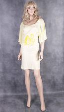 Nouveau bekkq jaune d'été robe de coton Taille M Femmes Haut Tunique Femme
