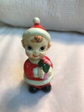 Josef Originals Vintage Christmas Elf Pixie Japan Santa Suit Ornament #J