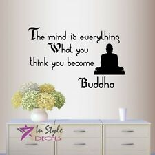 Vinyl Decal The Mind Is Everything Buddha Quote Wisdom Yoga Room Wall Decor 177