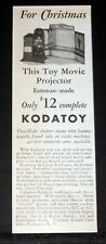 1932 OLD MAGAZINE PRINT AD, EASTMAN KODATOY TOY MOVIE PROJECTOR, FOR CHRISTMAS!
