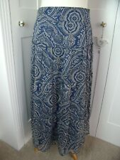 Phase Eight floaty boho hippie tiered long summer skirt size 12 blue lined