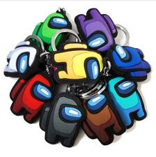 Double Sided Among Us Keychain Colourful Gift Keychains AMONG US Keyrings AU