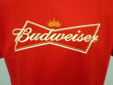 Fruit of the Loom Red XL T-Shirt Budweiser Cotton