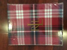 "New in package Ralph Lauren Nicolas Tartan Black, Red, White 60 x 84"" Tablecloth"