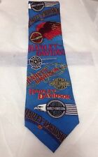 RM STYLE HARLEY DAVIDSON MOTORCYCLES BLUE RALPH MARLIN TIE
