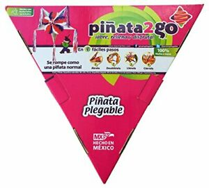 Piñata2GO Colorful 5 Point Star Orange, White & Red...Pop-Up, ready in seconds