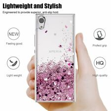For Sony Xperia 1 10 Plus L3 Shiny Moving Quicksand Liquid ShockProof Soft Case