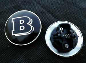 57mm Mercedes Benz Black Brabus Front Hood Bonnet Emblem Badge Decal Logo