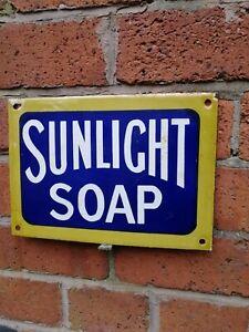 SUNLIGHT SOAP enamel sign